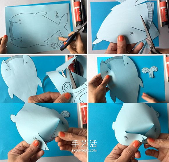 立體鯨魚的簡單做法 兒童用紙製作鯨魚的教程