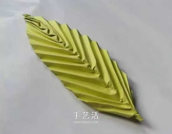 簡單樹葉怎麼折圖解 兒童手工立體葉子的折法