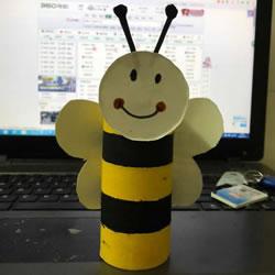 卫生纸筒和纸杯废物利用 做一只可爱小蜜蜂