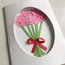 母亲节花束贺卡的做法 手工花束贺卡制作方法