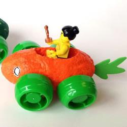 自制不一样的玩具车 可爱蔬菜小车的制作方法