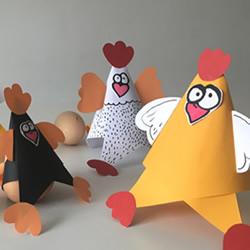 下蛋的母鸡手工制作 简单卡纸做母鸡的教程