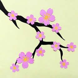 春天里的桃花贺卡做法 母亲节送给最爱的妈妈