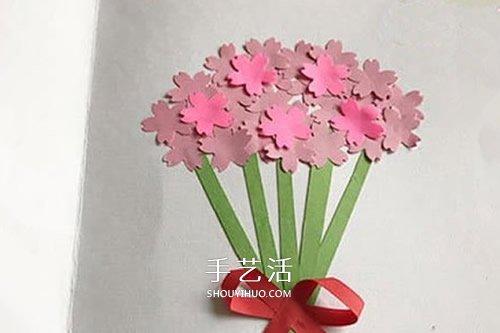 母親節花束賀卡的做法 手工花束賀卡製作方法