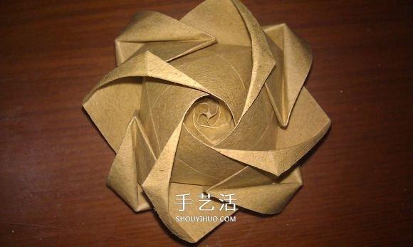 卷心式花心玫瑰花的折法 包括整形的經驗心得