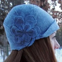 时尚又保暖!手工布艺DIY女式毡帽的做法图解