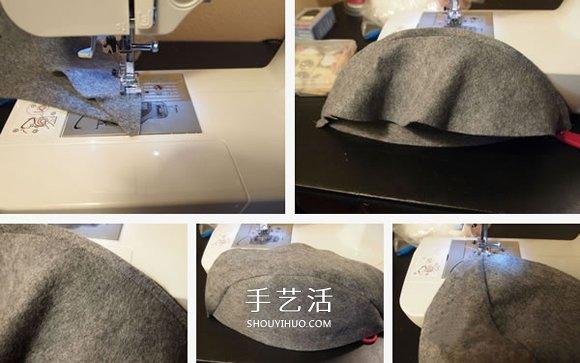 時尚又保暖!手工布藝DIY女式氈帽的做法圖解