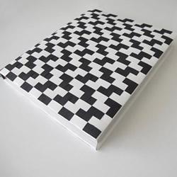 编织风书皮的包法图解 卡纸手工制作双色书皮