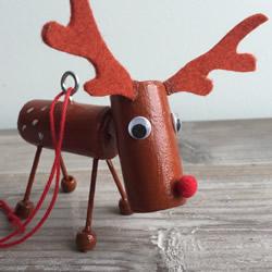圣诞驯鹿挂饰手工制作 简单的红酒瓶塞利用
