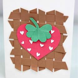 幼儿园手工贺卡教程 可爱母亲节草莓贺卡DIY