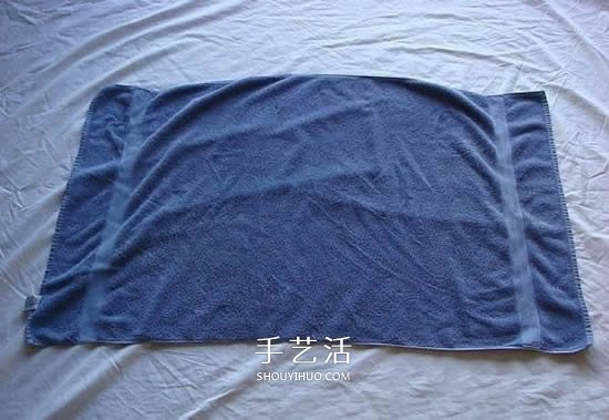 毛巾天鵝的折法圖解 客房浴巾毛巾折天鵝
