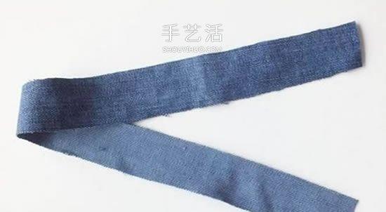 自製牛仔布手鏈的教程 牛仔布串珠手鏈做法