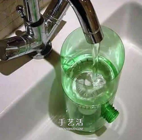 简单雪碧瓶手工制作 自制家庭净水器的方法 -  www.shouyihuo.com
