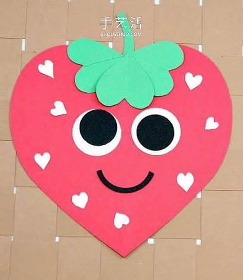 幼兒園手工賀卡教程 可愛母親節草莓賀卡DIY