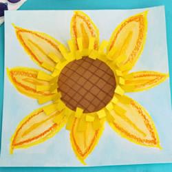 简单做向日葵的方法 幼儿园立体向日葵制