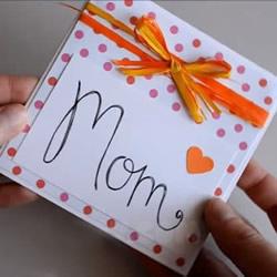 简单母亲节贺卡的制作 丝带蝴蝶结卡片的做法