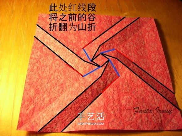 韓式玫瑰花禮盒怎麼折 包括蓋子和盒身的折法