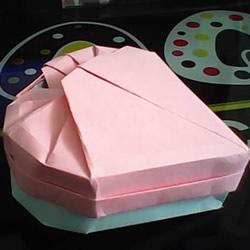 情人节礼品盒折纸教程 带盖子爱心纸盒折法