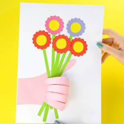 幼儿园母亲节小手工 手工制作有创意的贺卡