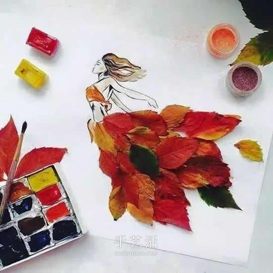 簡單又好看的兒童樹葉貼畫圖片大全