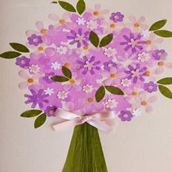 花团锦簇的美丽!手工母亲节花束卡片的做法