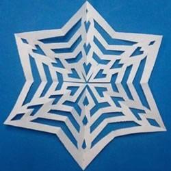 7种美丽雪花的剪纸图案 剪雪花怎么剪步骤图