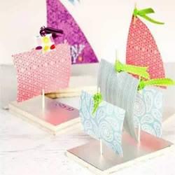 儿童玩具小船手工制作 用泡沫板做帆船的方法