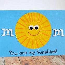 妈妈你就是我的太阳!简单母亲节卡通贺卡DIY