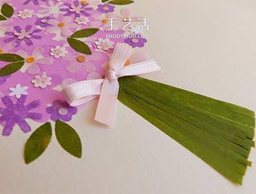 花團錦簇的美麗!手工母親節花束卡片的做法