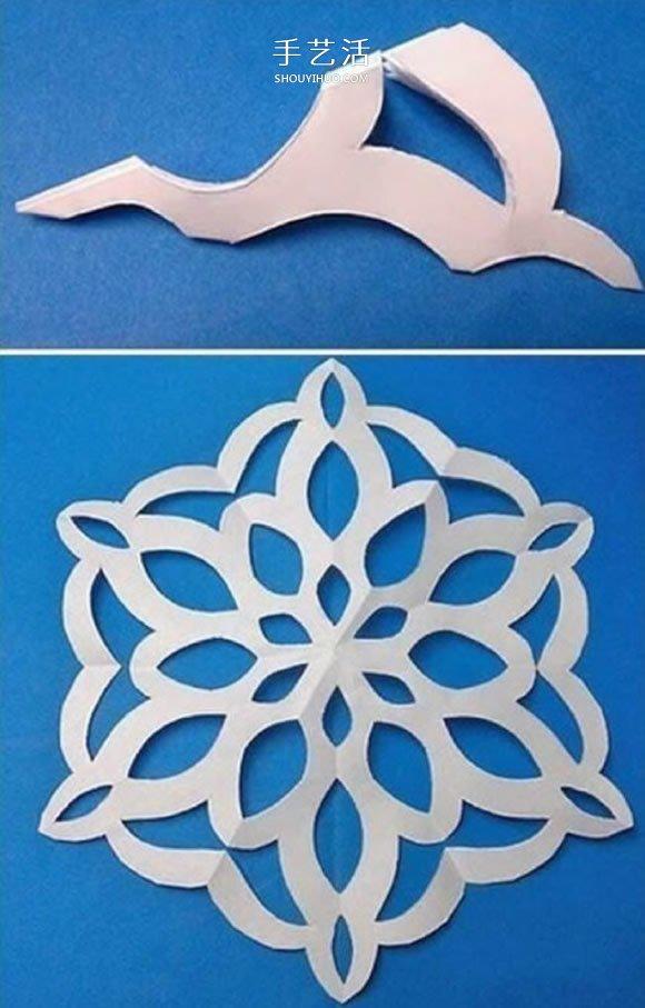 7種美麗雪花的剪紙圖案 剪雪花怎么剪步驟圖