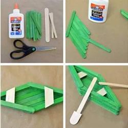 用雪糕棍做船的方法 3种简单玩具小船制