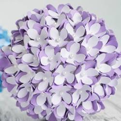 手工绣球花的做法图解 卡纸简单制作绣球花球