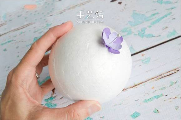 幼儿手工绣球花的教案