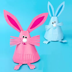 用纸盘做立体兔子教程 可爱纸盘兔子制作方法