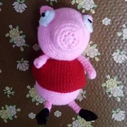 可爱小猪佩奇钩织教程 钩针编织小猪佩奇