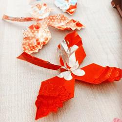 简易折纸枫叶的教程 红包纸折枫叶折法图解