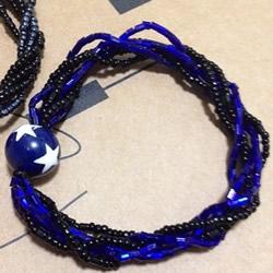 时尚串珠手链DIY图解 还能用作不扯头发的发饰