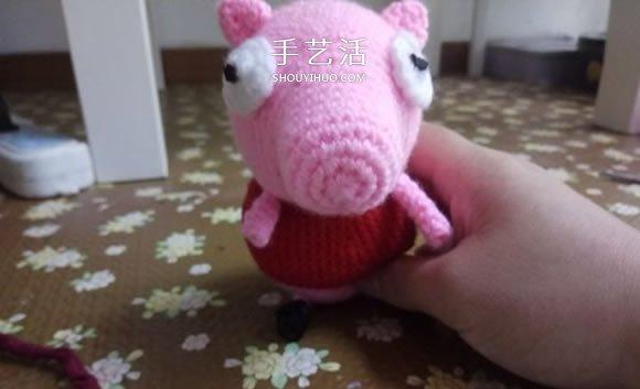 可愛小豬佩奇鉤織教程 鉤針編織小豬佩奇圖解