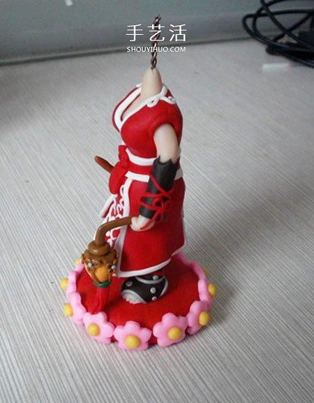 软陶手工DIY剑网3万秀派人偶的详细步骤图解 -  www.shouyihuo.com