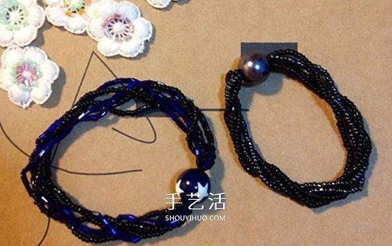 時尚串珠手鏈DIY圖解 還能用作不扯頭髮的髮飾