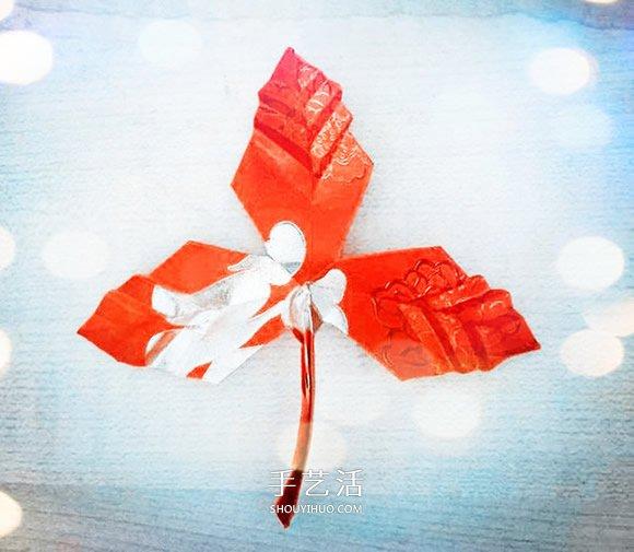簡易摺紙楓葉的教程 紅包紙折楓葉折法圖解