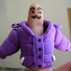 有趣的橡皮泥DIY 做搞笑手指娃娃的方法图解