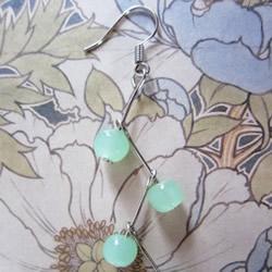 淑女风耳环DIY 极简单串珠耳环的手工制作