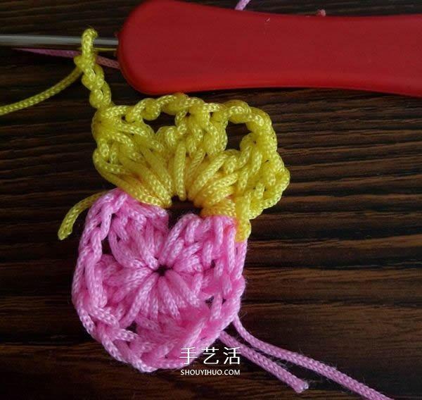 精美花樣圖案鉤織方法 換線多色花樣鉤法