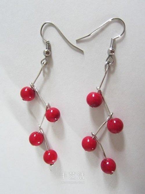 淑女風耳環DIY 極簡單串珠耳環的手工製作