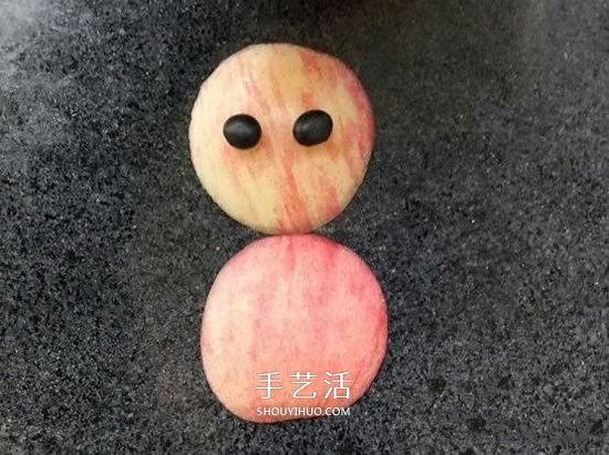 幼儿园切水果小游戏 用苹果切出可爱小人拼图 -  www.shouyihuo.com