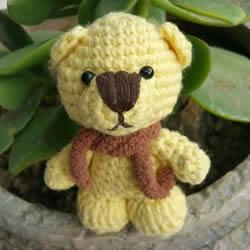 毛线钩织小熊的方法 可爱小熊玩偶的钩法图解