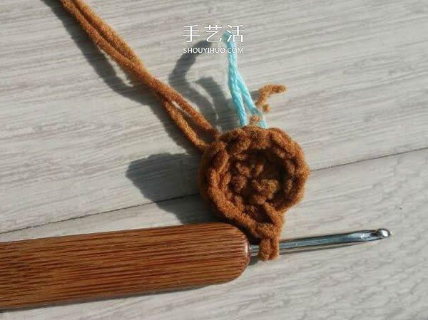 毛線鉤織小熊的方法 可愛小熊玩偶的鉤法圖解