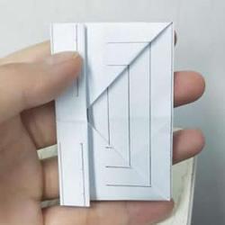 幼儿园折纸教程:最简单纸钱包的折法图解