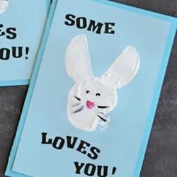 让兔子为你传情!可爱卡通情人节贺卡DIY制作